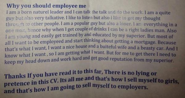 worst resume ever